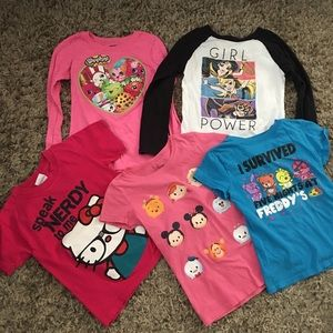 A lot of girls T-shirt's size 6-6X